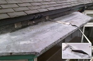 Lead bay roof repair