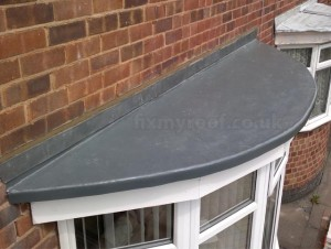curved fibreglass bay roof semicircle