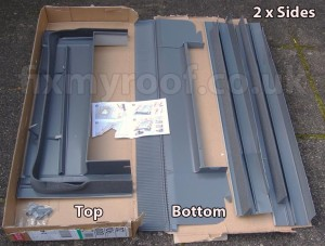 Velux EDZ or EDW falshing set window flashings