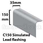 C150 simulated lead flashing fibreglass trim sizes size dimensions roofing