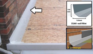 D260 wall fillet abutting a wall in grp fiberglass