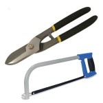Hacksaw and tin snips