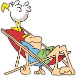 Man in deck chair